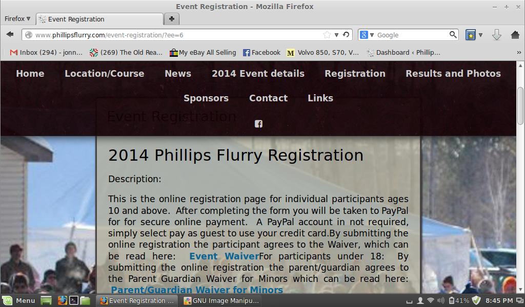 2014 Phillips Flurry Registration